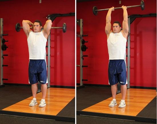 extencion de brazos para desarrollar triceps