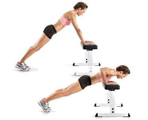 flexiones de brazos inclinados