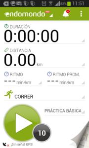 aplicacion endomondo panel principal para fitness