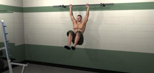 Flexion de rodillas en barra fin
