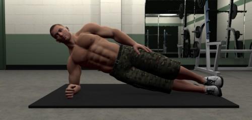 Ejecucion del ejercicio puente lateral para entrenar abdominales
