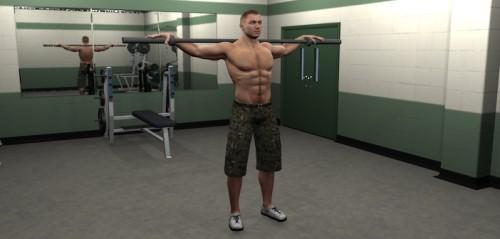 Rotación de torso con barra inicial