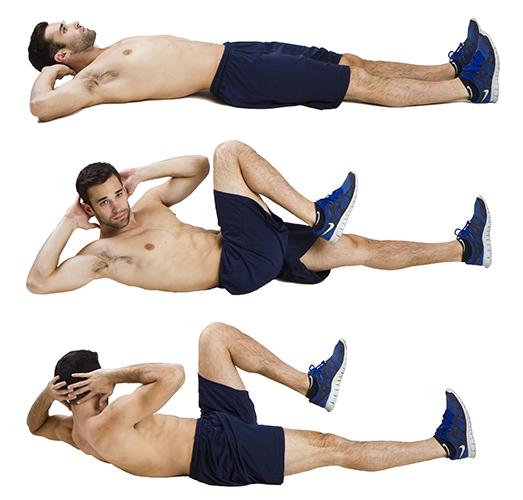 como hacer el crunch con rotacion de abdominales