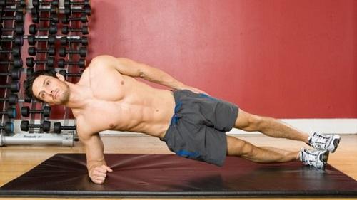 puente lateral para entrenar abdominales