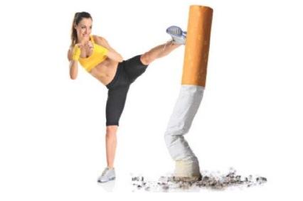 fumar y el gimnasio