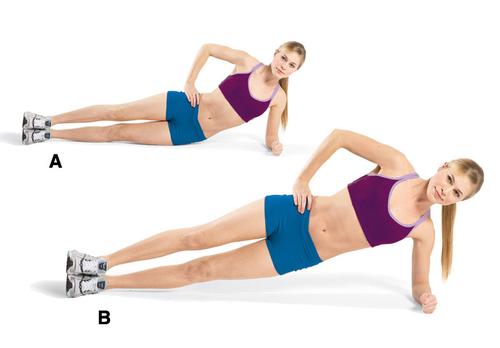 puente o plancha lateral para abdominales