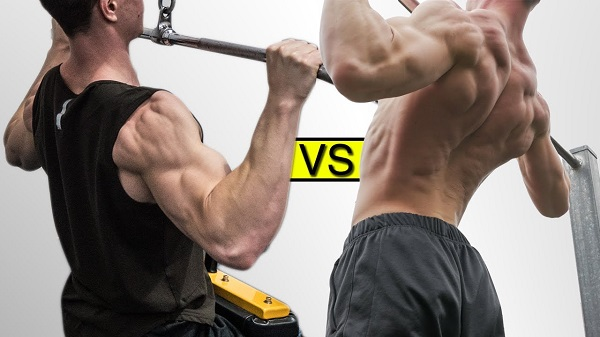 dominadas vs poleas