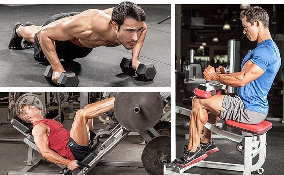 sobrecarga muscular con pesas