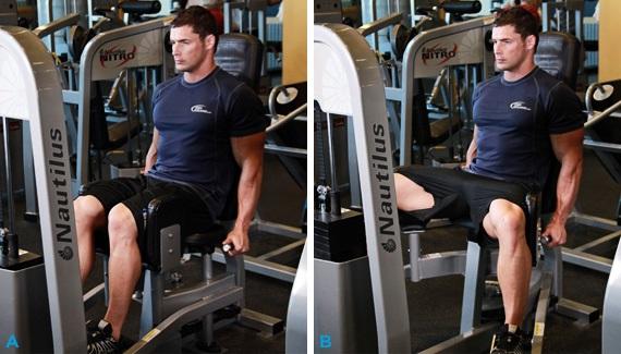 abducción de piernas en máquina