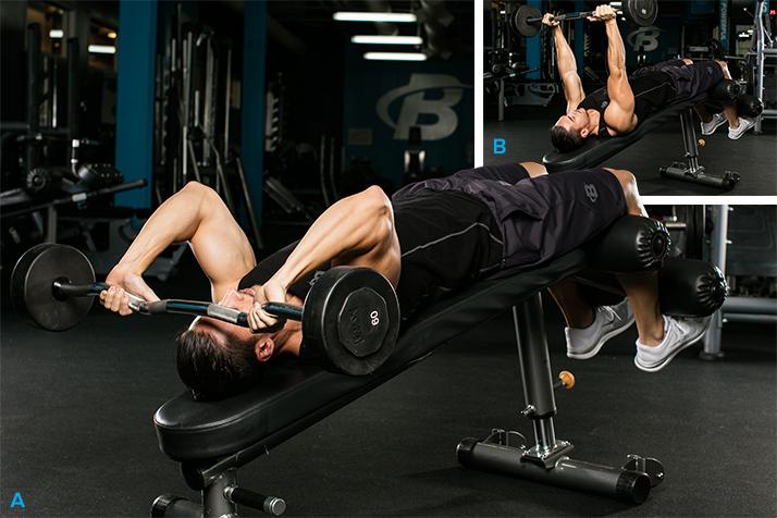 extension de triceps en banco declinado 2