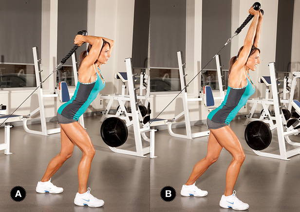 extension de triceps con polea baja