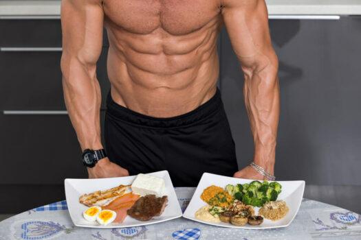 los alimentos y los abdominales