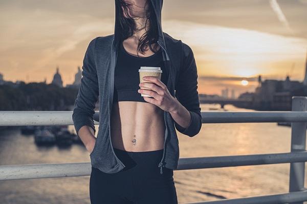 el café y el entrenamiento