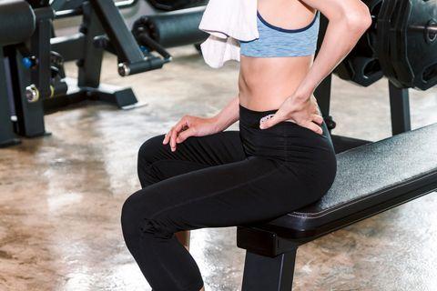 dolor lumbar al entrenar